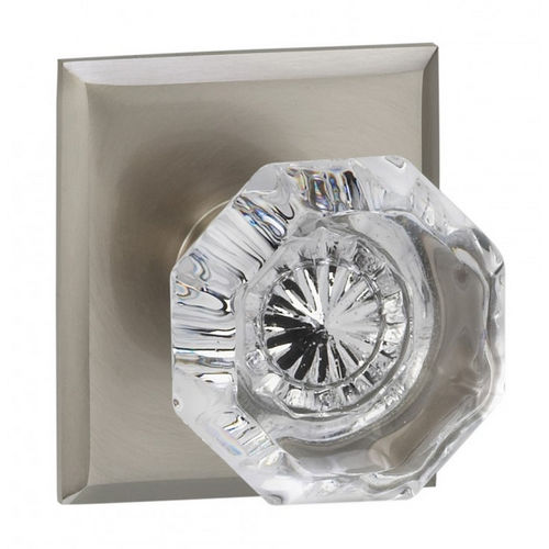 Omnia 955RT/238F.PR10B 955 with Rectangular Rose Privacy Knob with 2-3/8