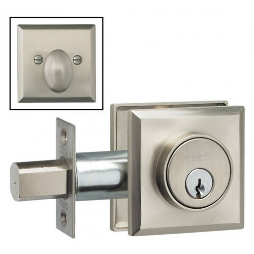 Omnia RECTDB.34.38.15 Rectangular Deadbolt for 1-3/4
