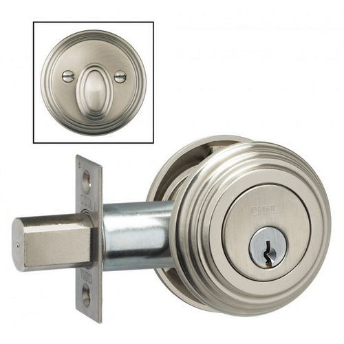 Omnia TRADDB.3 Traditional Single Cylinder Deadbolt with 2-3/4