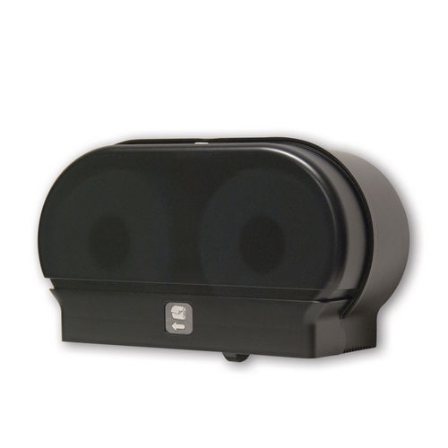Palmer Fixture RD0321-02 Mini-Twin Standard Tissue Dispenser, Black Translucent