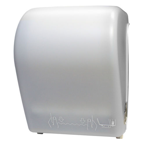 Palmer Fixture TD0201-03 Hands-Free Auto-Cut Towel Dispenser, White Translucent