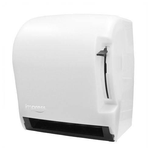 Palmer Fixture TD0220-03 Impress Lever Roll Towel Dispenser, White Translucent