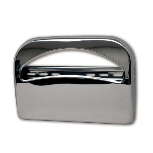 Palmer Fixture TS0142-11 Toilet Seat Cover Dispenser 1/2 Fold, Brushed Chrome