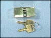 Papaiz C400/55KA5 Double Keyed Lock, Brass