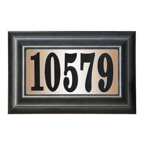 QualArc LTS-1300-AC Edgewood Standard Lighted Address Plaque, Antique Copper Frame