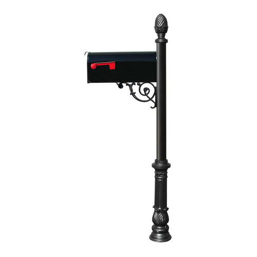 QualArc LPST-703-E1-BL Lewiston Post with Support Brace, Black