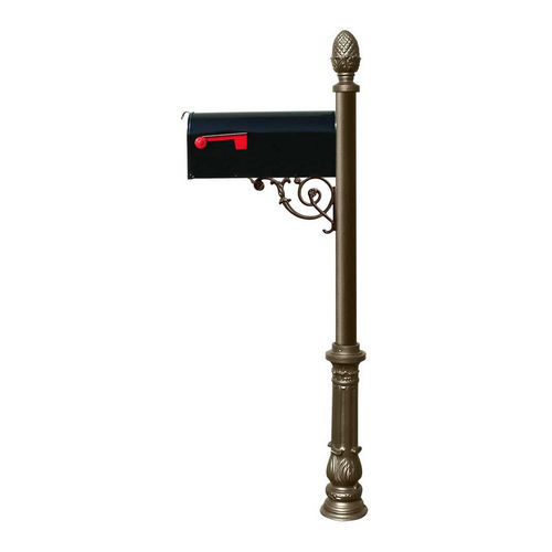 QualArc LPST-703-E1-BZ Lewiston Post with Support Brace, Bronze