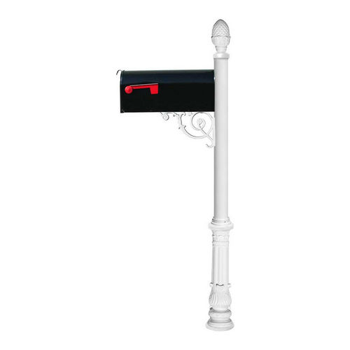 QualArc LPST-703-E1-WHT Lewiston Post with Support Brace, White