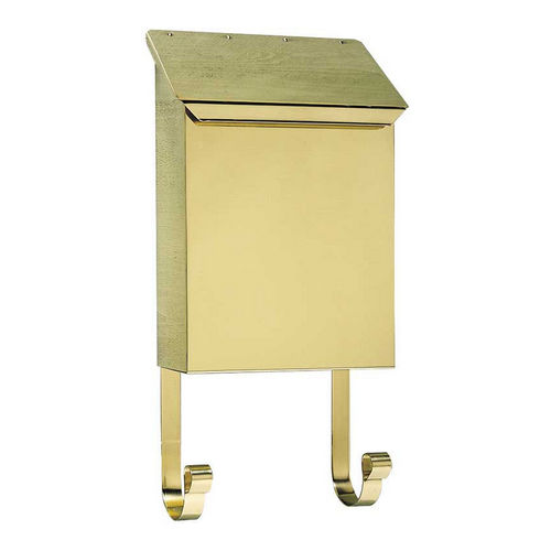 QualArc MB-400-PB Provincial Collection Brass Mailbox Vertical, Smooth Polished Brass