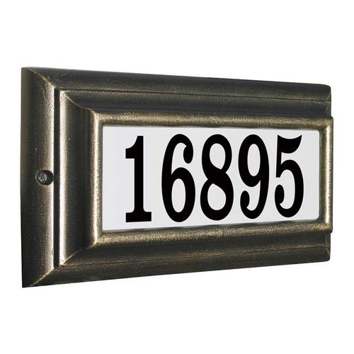 QualArc LTS-1300-PW Edgewood Standard Lighted Address Plaque, Pewter Frame