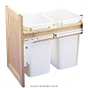 Richelieu 4WCTM18DM2FL Double Pull-Out Waste Container