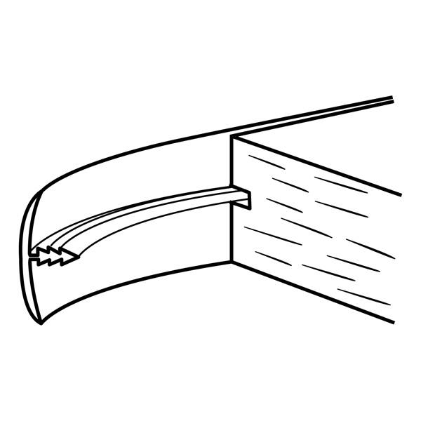 Richelieu 5812530 Flexible T-Molding