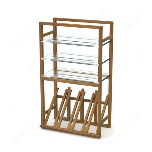 Richelieu MODVERRE10 Modern Angled Glass Racks