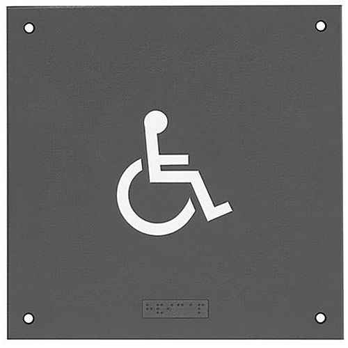 Rockwood BF683 Tactile Signage with Braille