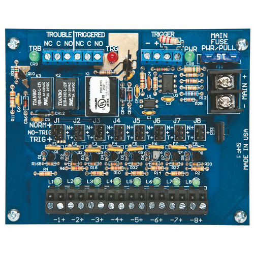 Securitron PDB-8C1R Power Distribution Board 8 PTC Output, Fire Trigger/Relay