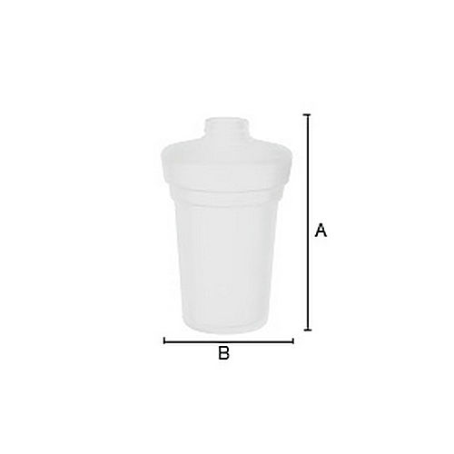 Smedbo N3351 Spare Frosted Glass Soap Container