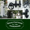 Snug Cottage 7400-WPS S While Adjustable Self Closing Strap Hinge for PVC