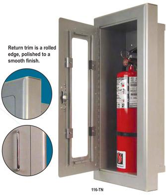 fire extinguisher cabinet strike 116 tn semi recessed extinguisher cabinet 15431