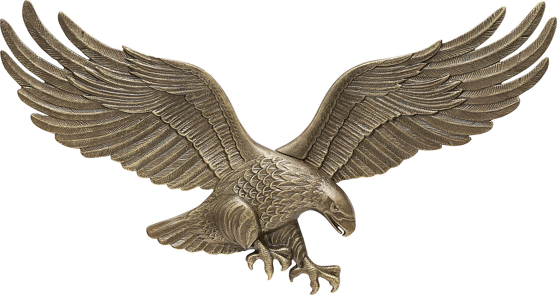 """Whitehall 00734 Wall Eagle 29"""", Antique Brass ..."""