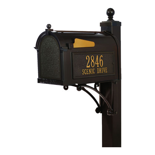 Whitehall 16296 Deluxe Capitol Mailbox Package, Bronze