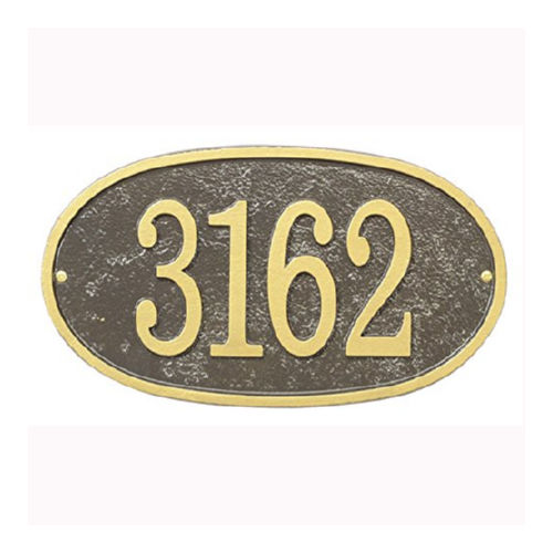 Whitehall FEO1OG Fast & Easy Oval House Numbers Plaque