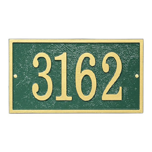 Whitehall FER1GG Fast & Easy Rectangle House Numbers Plaque
