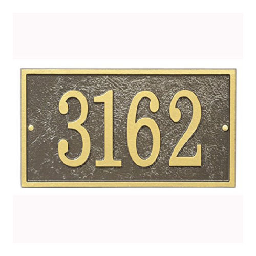 Whitehall FER1OG Fast & Easy Rectangle House Numbers Plaque