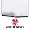 World Dryer DXA5-973AU Surface Mount Automatic Dryer, Stainless Steel, Brushed