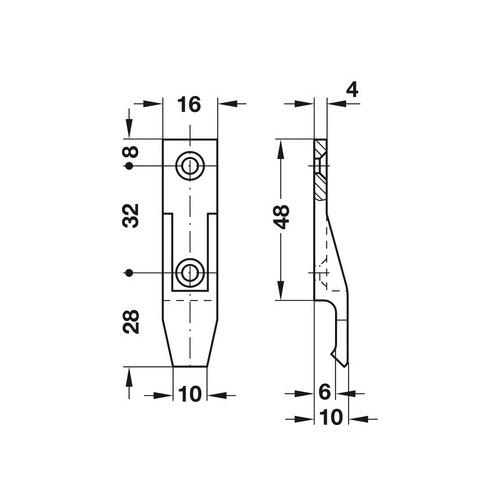 Hafele 262.49.356 Suspension Fitting, Panel Component