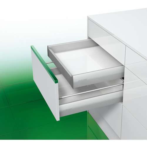 Hafele 558.04.571 Panel brackets, For panel for internal drawer box without railing, Grass Nova Pro drawer side runner system, height 90 mm
