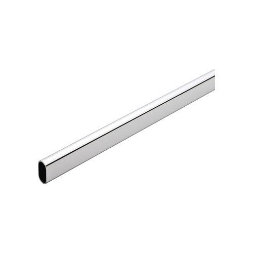 Hafele 801.13.245 Welded Steel Oval Wardrobe Tube, with Supports