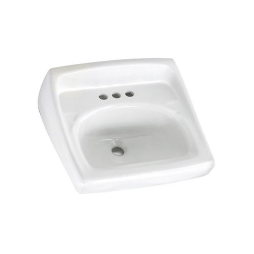 Saniflo 012 American Standard Lucerne Wall Mount Vitreous China Bathroom Sink 0355..020 White