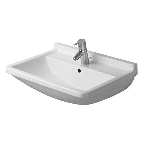 Duravit 03006000001 Starck Drop In Porcelain Bathroom Sink White Alpin