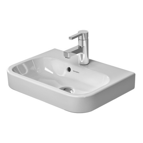 Duravit 07105000001 Happy D Wall Mount Porcelain Bathroom Sink White Alpin