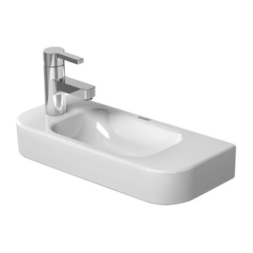 Duravit 0711500000 Happy D Wall Mount Porcelain Bathroom Sink White Alpin