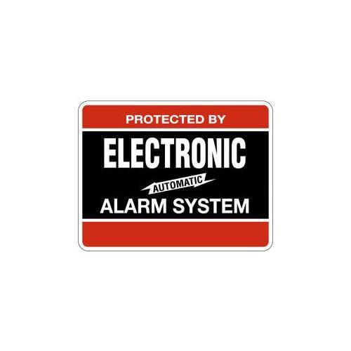 Maxwell Alarm Screen Mfg DY103 ELECTRONIC ALARM DECAL 4inX3in BLACK/RED