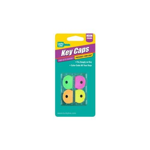Luckyline Products 16506 KEY CAP NEON ASSTORTED 4/CD