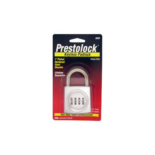CCL Security Products K2621 CARDED COMBO PADLOCK 4 DIAL 2X2 1/2