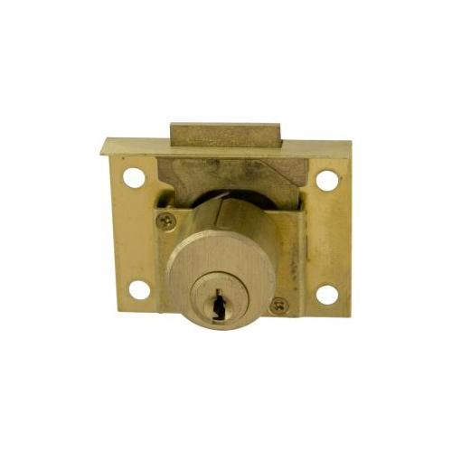 CCL Security Products 0666-1/2KA4T93 HALF MORTISE 7/8in PIN DRAWER LOCK US26D