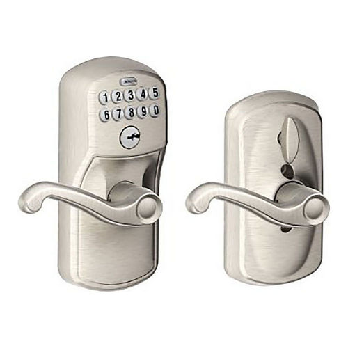 Schlage Residential FE595 PLY619FLA Lock Pushbutton Lock