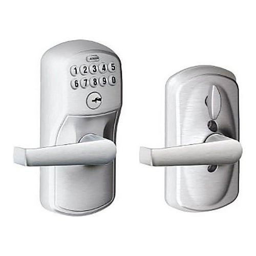 Schlage Residential FE595 PLY626ELA Lock Pushbutton Lock