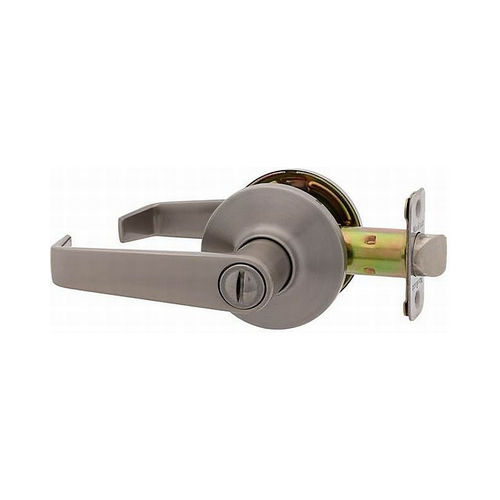 MaxGrade 201THA15 Thames Privacy Push Button Lock Satin Nickel Finish with Adjustable Latch and Radius Strike