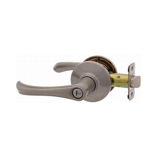 MaxGrade 201TRE15 Trent Privacy Push Button Lock Satin Nickel Finish with Adjustable Latch and Radius Strike