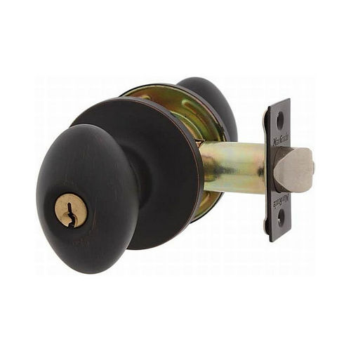 MaxGrade 300BAK11HKW Baker Egg Style Entry Lock Aged Bronze Finish with Adjustable Latch and Radius Strike
