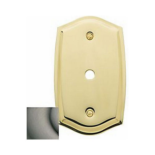 Baldwin 4769151 Cable Cover Colonial Switch Plate Antique Nickel Finish