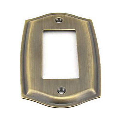 Baldwin 4785050 Single Rocker Colonial Switch Plate Antique Brass Finish