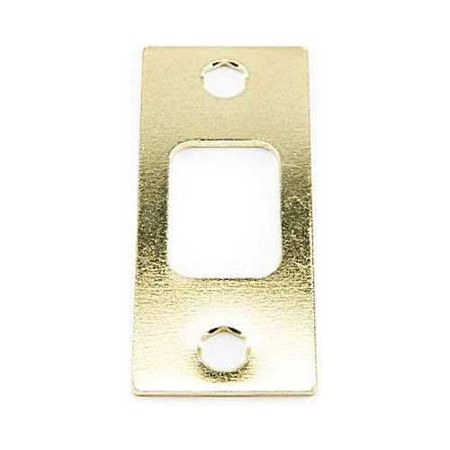 MaxGrade 91113 Square Deadbolt Strike Bright Brass Finish