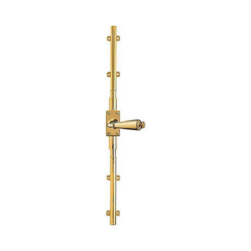 Baldwin 8105030R8LK Right Hand 8' Cremone Bolt Less Knob Bright Brass Finish