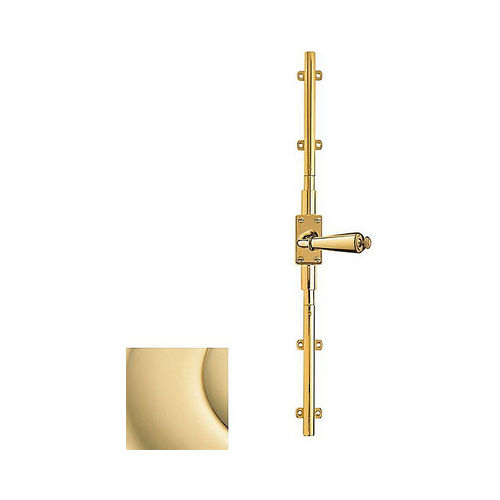 Baldwin 8105031R8LK Right Hand 8' Cremone Bolt Less Knob Unlacquered Brass Finish