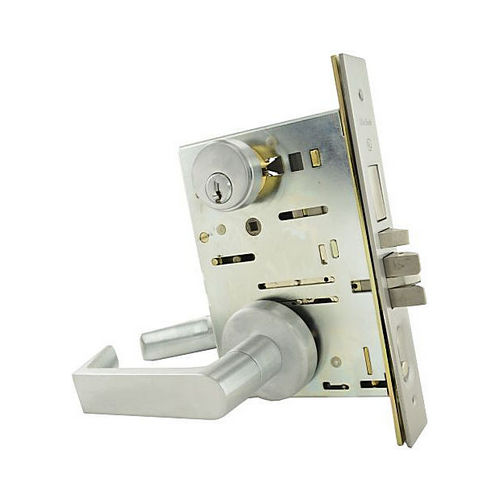 MaxGrade Commercial MS300PA26D Pennsylvania Entry Mortise Lock Satin Chrome Finish